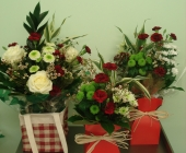 Red and White Bouquet Selection