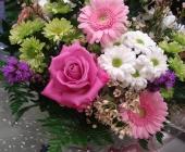 Seasonal Bouquet in Aqua Box