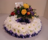 Based wreath with Ribbon Trim