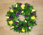 Rose, Tulip and Lisitanthus Wreath Ring